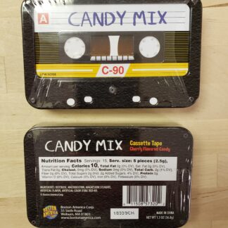 candy mix cassette tin