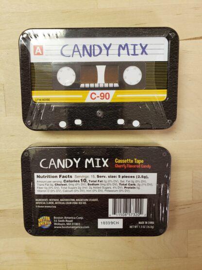 candy mix cassette tin