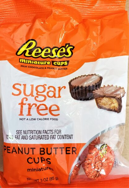 reeses mini cups sugarfree front