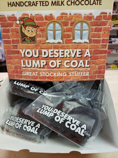 you deserve a lump of coal box