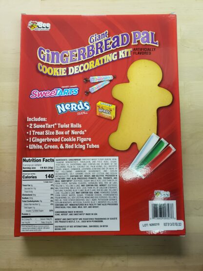 giant gingerbread pal sweetarts nerds back
